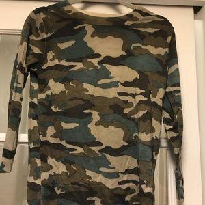 Jcrew 3/4 length camo sweater